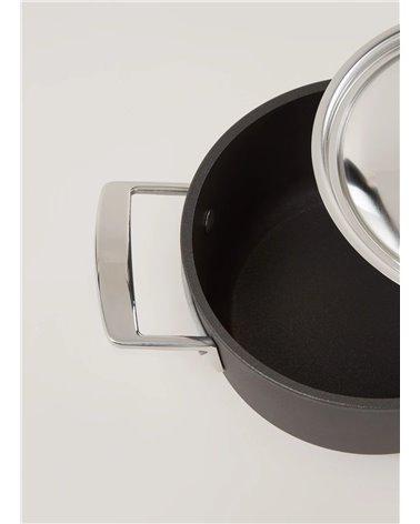 Duraslide titanium kookpot met roestvrijstalen deksel 18 cm